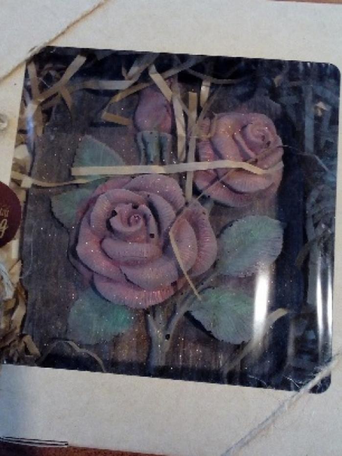 """Шоколадный барельеф """"Роза"""""""