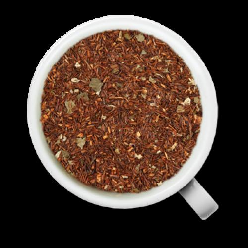 Зеленый чай порох, кусочки клубники, листья ежевики, лепестки сафлора, ароматизированый маслами земляники и сливок