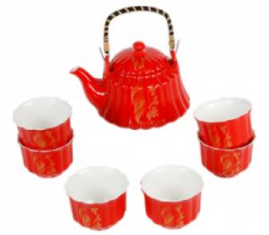 """набор чайный """"Ария"""", чайник+4 пиалы"""