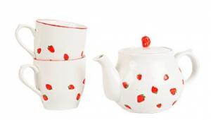"""набор чайный """"Земляника"""", чайник+2 кружки"""