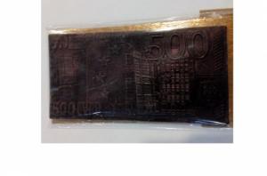 """Шоколадная купюра """"500 евро"""""""